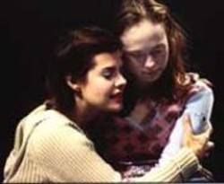 RICHARD  ANDERSON - Oberle Descending: Jill (Nancy Bell) comforts Lydia (Megan Austin Oberle) in this coming-of-age tale.