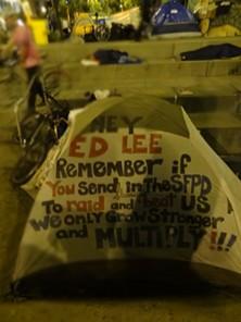 Occupy SF might get raided today ... by the rain - ADRIELHAMPTON VIA FLICKR