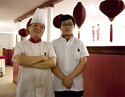 JEN SISKA - Off menu: Chef Nei (seen here with his son) decides what you will eat.