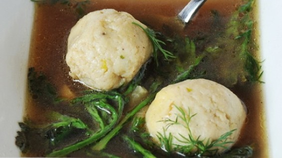 Old World Food Truck's Matzah Ball Soup