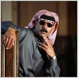Omar Souleyman performs at Mezzanine on Tuesday.