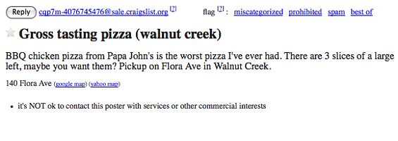 One person's trash is another person's treasure - CRAIGSLIST