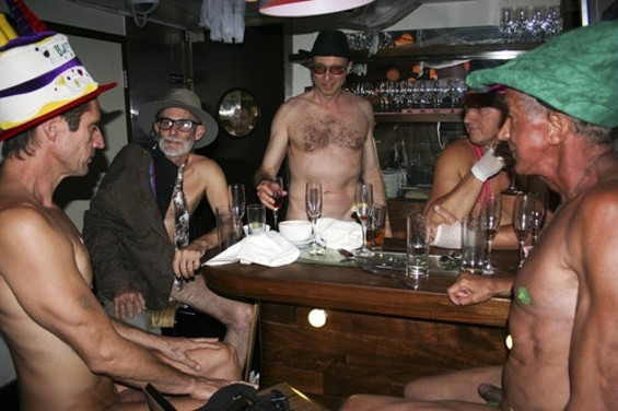 NAKED IN A CASTRO BAR, TOO.