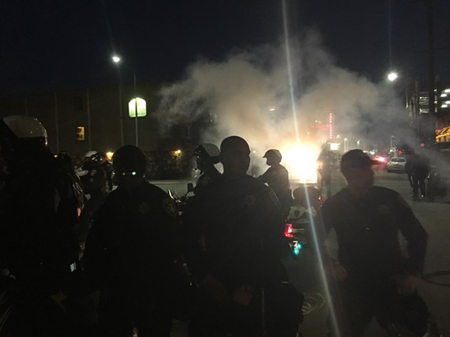 OPD deployed CS gas Saturday night - JULIA CARRIE WONG