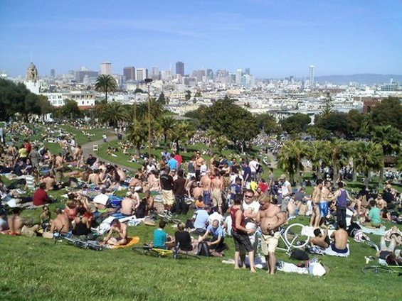 Opponents say food vendors in Dolores Park could generate more trash, more noise, more public peeing. - BRIANNA H./YELP