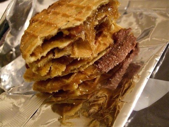 Organic Canna's pot-laced Stroop Waffle, based on the classic Dutch stroopwafel cookie.
