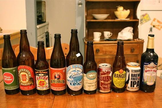 Our epic 10-beer lineup. - BRIAN YAEGER
