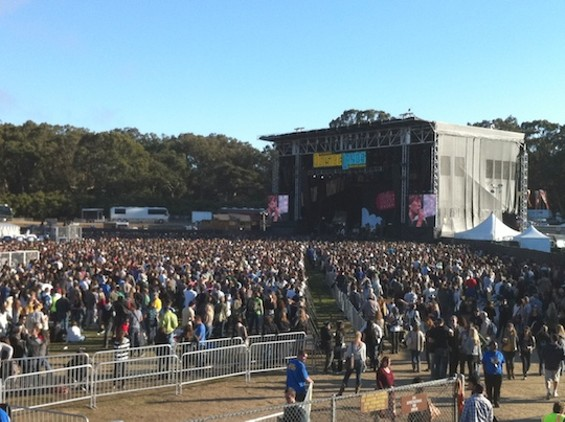 Outside Lands in the sunshine (pleasant sigh).
