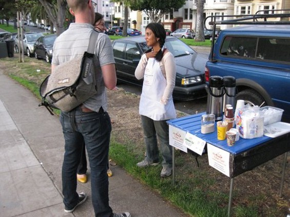 Paawaan Kothari and her chai stand. - LUIS C./YELP