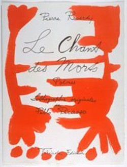 Pablo Picasso's frontispiece from Le Chant des Morts by Pierre Reverdy.