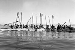 Paddles up at the Sea Trek Regatta.