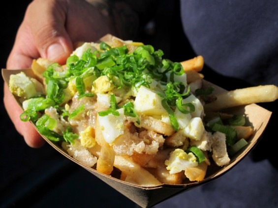 Palabok Poutine Fries from Señor Sisig - LOU BUSTAMANTE