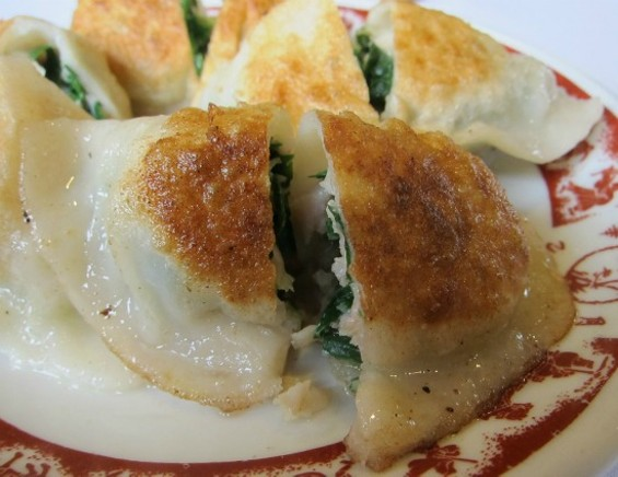 Pan-fried chive dumplings - PHOTOS BY W. BLAKE GRAY