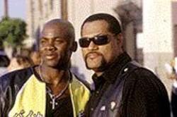 D  STEVENS - Papa Wheelie: Kid (Derek Luke) with his mentor, - Smoke (Laurence Fishburne).
