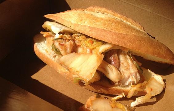 Parlor Pork Belly sandwich at Parlor 1255. - ANNA ROTH