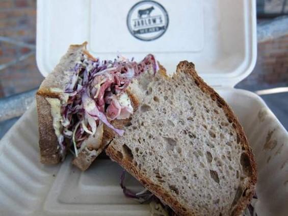 Pastrami sandwich from Jablow's Meats - JONATHAN KAUFFMAN