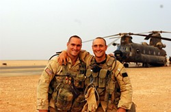 Pat Tillman (left) and his brother, Kevin.