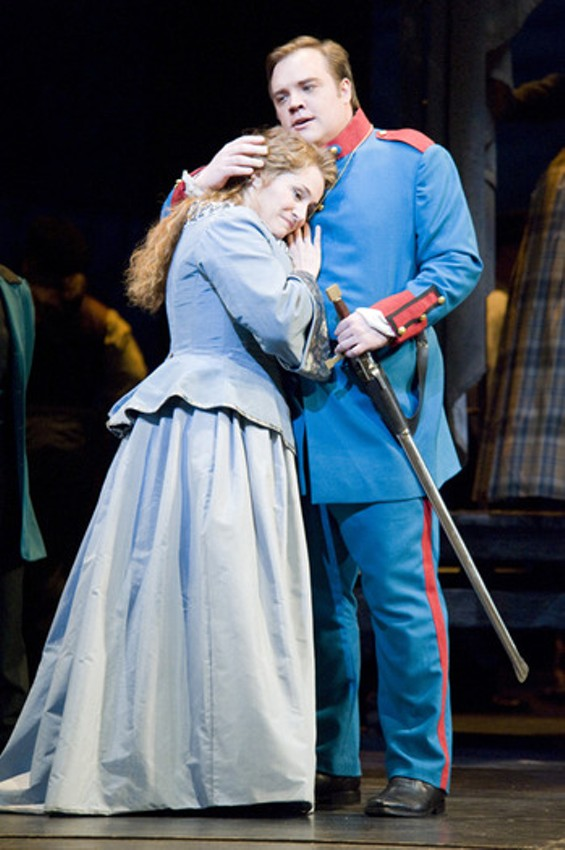 Patricia Racette as Marguerite and Brian Mulligan as Valentin - TERRENCE MCCARTHY