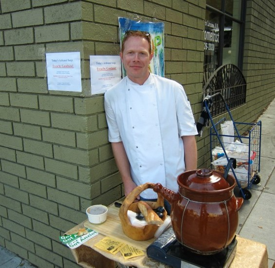 Patrick Bostwick operates Soup to Nuts on Valencia Street