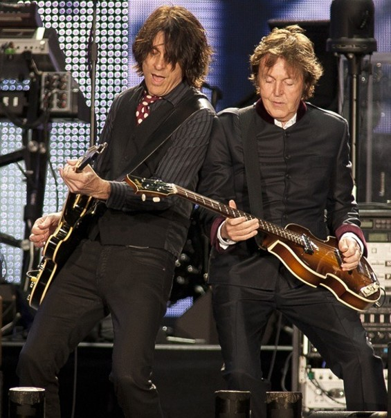 Paul with guitarist Rusty Anderson - CHRISTOPHER VICTORIO