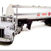 Pedestrian Hanging Onto Fuel Truck Dies