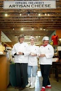 Peggy Smith (far left) and Sue Conley (far right). - COWGIRL CREAMERY