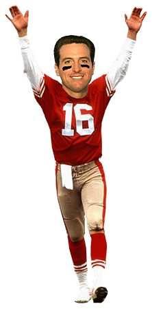Perhaps this image won Gavin Newsom the support of a current 49er?