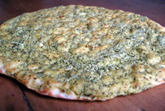 Persian herb-and-feta bread. - JONATHAN KAUFFMAN