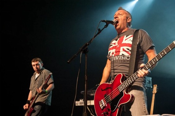 Peter Hook at the Music Box in L.A. on Sept. 14. Photo by Timothy Morris.