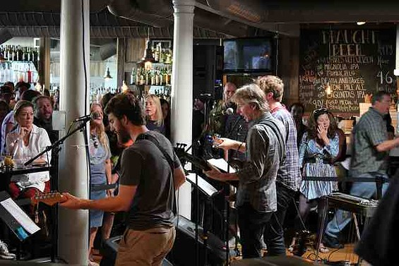 Phil Lesh and sons perform in the Terrapin Crossroads bar. - CARLY FISHER