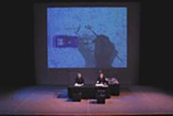 Pierre, Bob, and art in Living Cinema's - Endangered Species.