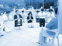 Pilgrims to Hong Kong's Lantau Island worship Belinda Peng, their Lord of Buddhas.
