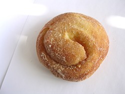 JOHN BIRDSALL - Pinkie's Bakery's morning bun offers all the comforts of a doughnut, but without the clunkiness.