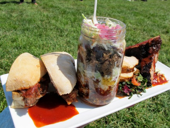 Platter of BBQ from Cochon Volant - LOU BUSTAMANTE