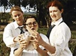 ELIZABETH  ALLEN - Play Nice!: Jennifer Dean, Lizzie Calogero, - and Jenny Debevec in Lord of the - Flies.