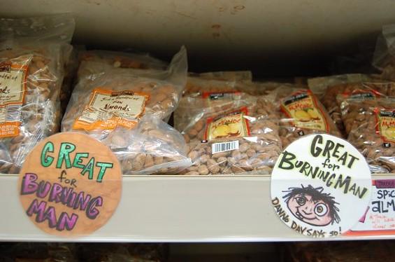 Playa munchy? The almond bin at TJ's in San Francisco. - AIMEE SHAPIRO