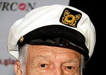 Playboy Hugh Hefner Sticks His Hands in <em>Pandora's Box</em>