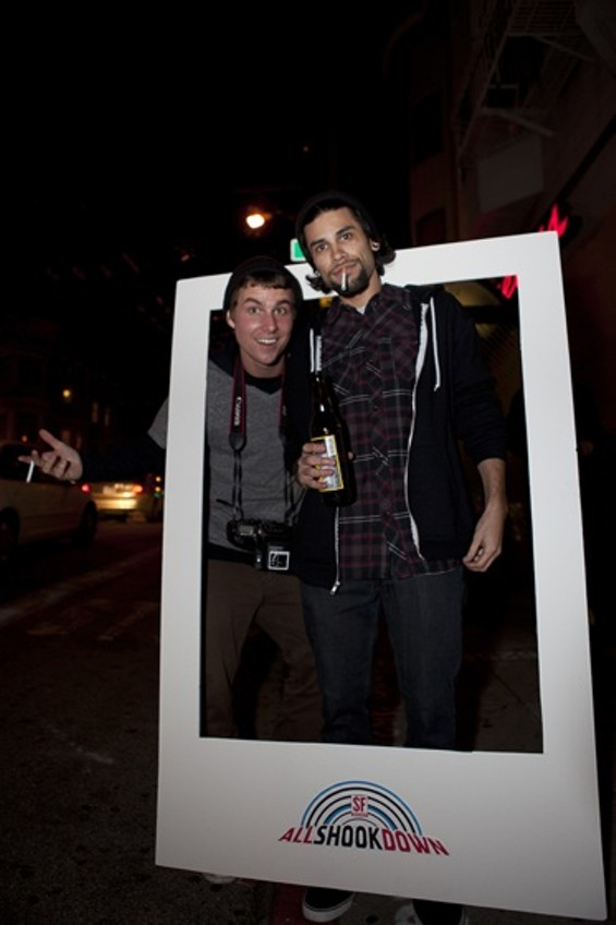 Playing with our All Shook Down real-life Polaroid frame. - JOSEPH SCHELL