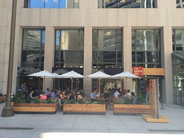 Plenty of outdoor seating. - PETE KANE