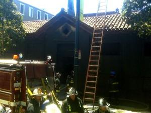 Police station on fire - ALBERT SAMAHA