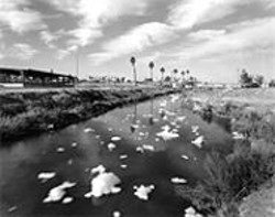 ROBERT  DAWSON - Polluted New River, Mexican-American border, - Calexico.