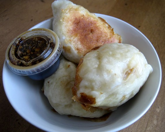 Pork and cabbage dumplings, $3.95/six - J. KAUFFMAN