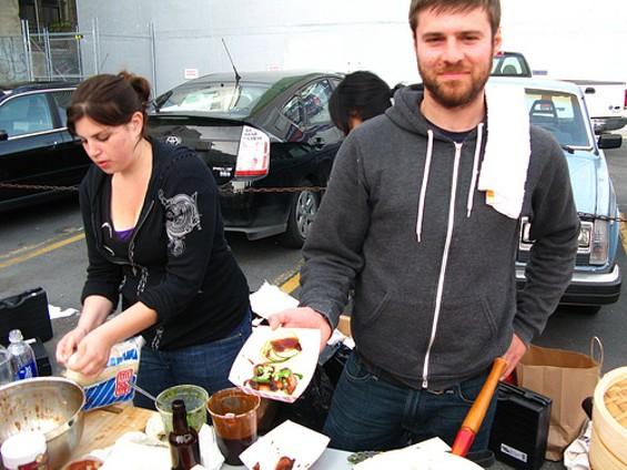 Pork bun sellers at the SF Underground Market. - SLOWPOKE SF/FLICKR
