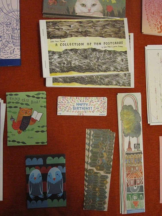 Postcards, bookmarks, and notes
