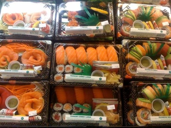 Premade sushi in the Whole Foods case in SOMA. - GARY E./YELP