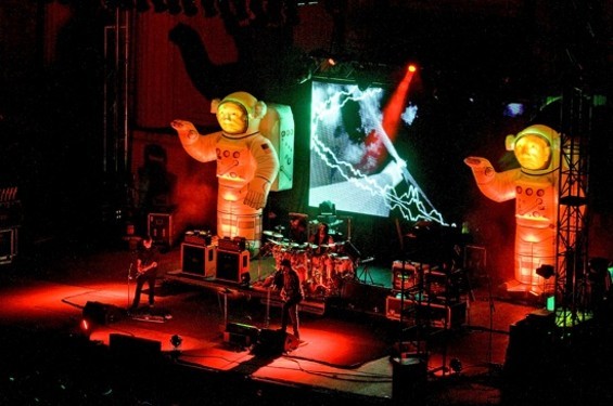 Primus at the Greek Theatre on Saturday. - CALIBREE PHOTOGRAPHY
