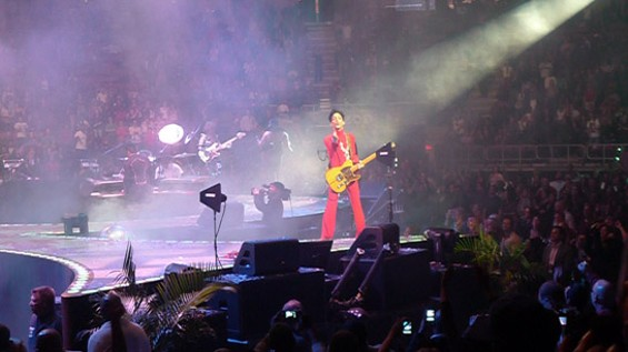 Prince performing in New York late last year. - NICOLE ANKOWSKI