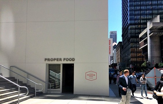 Proper Food's modern exterior on Mission street. - ANNA ROTH