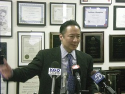 Public Defender Jeff Adachi, pictured at a press conference last month