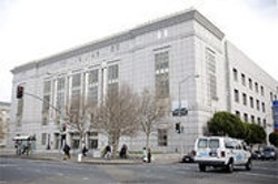 JAMES  SANDERS - Public Library's Main Branch: A rather large building for a daytime homeless shelter.